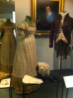 Regency-era ball gown & coat