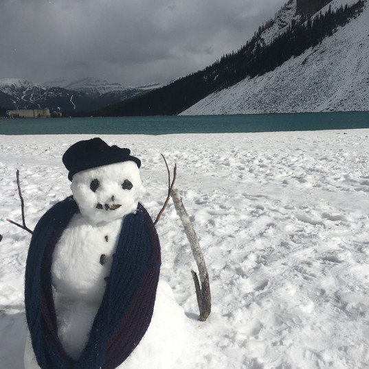 Snowman at Lake Louise