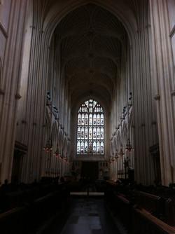 Inside Bath Abbey, England