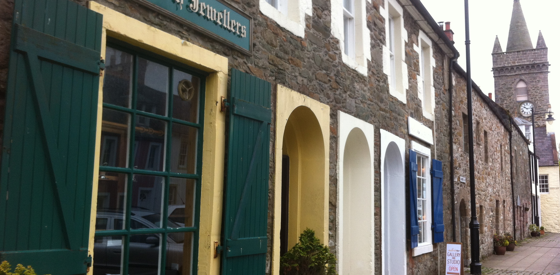 Some of the charming shops in Kirkcudbright