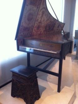 Lavinia plays the pianoforte