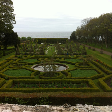 Dunrobin Castle gardens, looking out to the North Sea