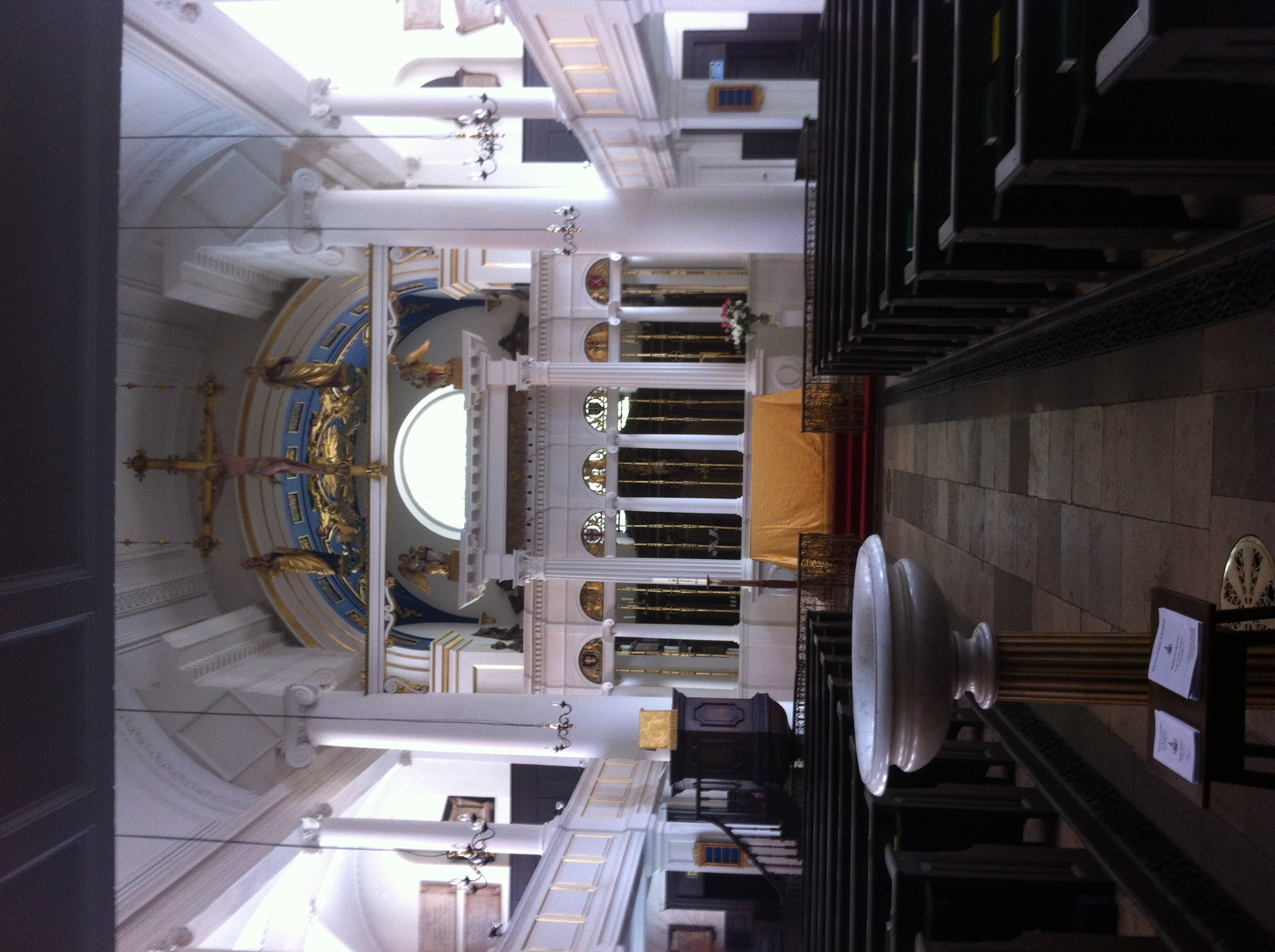 The inside of a London church