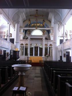 The inside of a London church