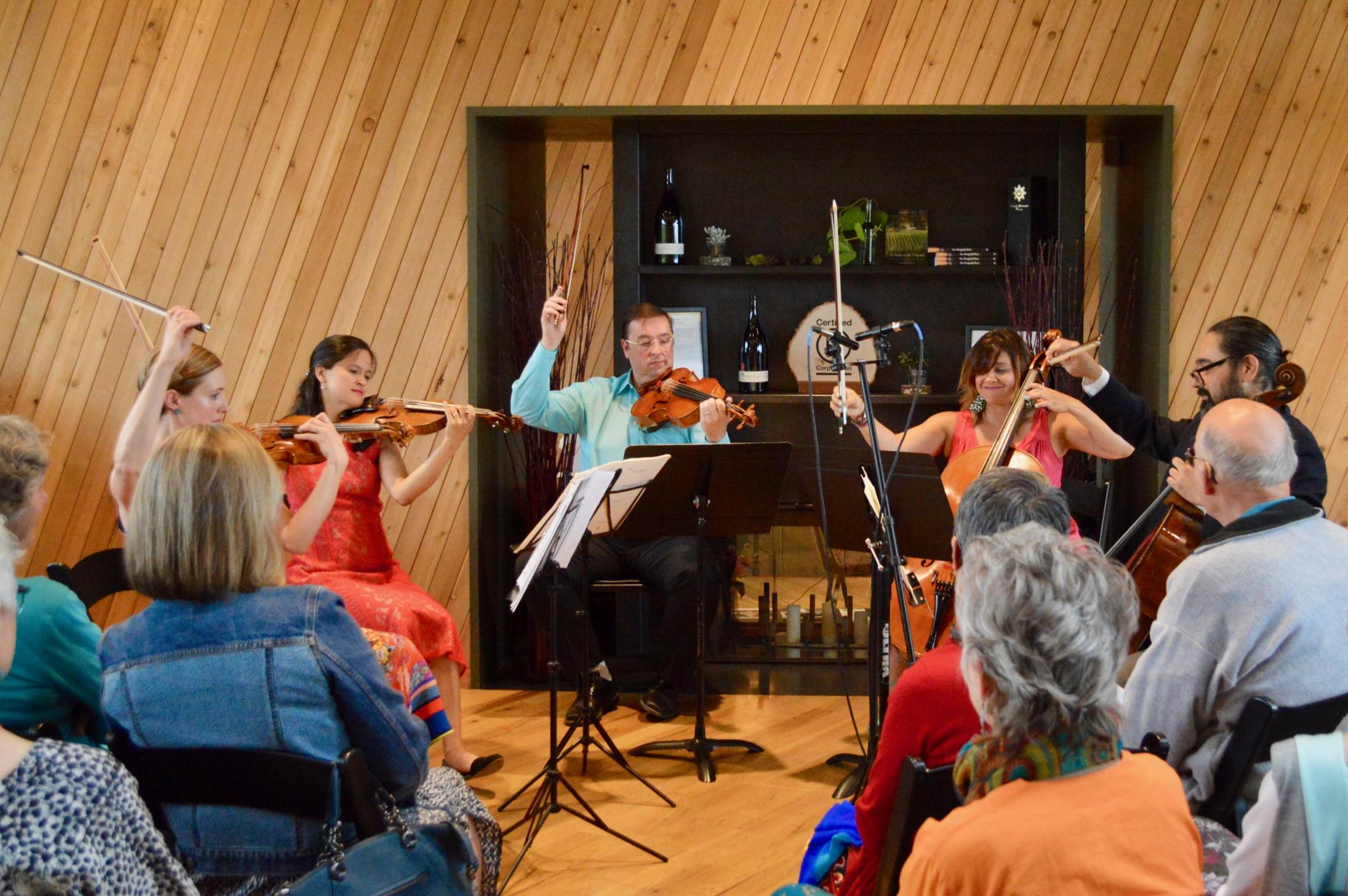 Schubert Quintet at Sokol Blosser