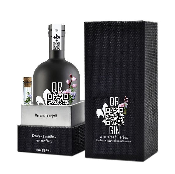 QR gin black night