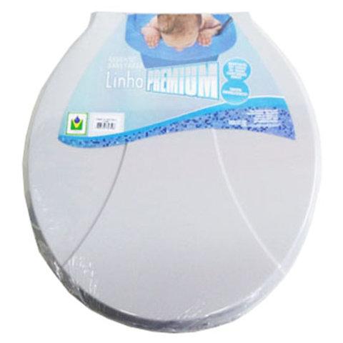 Assento Sanitário Cinza Linha Premium 714