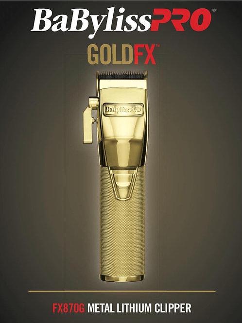 BabylissPRO GoldFX Metal Lithium Clipper #FX870G