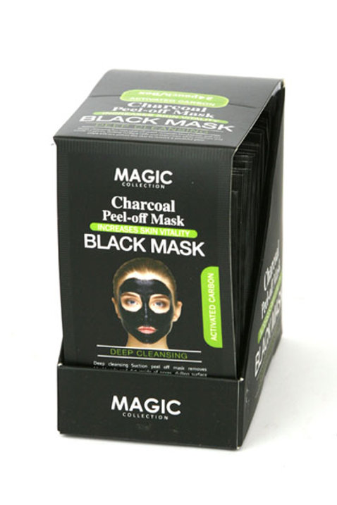 """Magic""Charcoal Peel Off Black Mask Pouch (sold per pouch )"