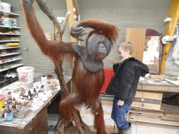 orang oetan kleinzoon met Opa