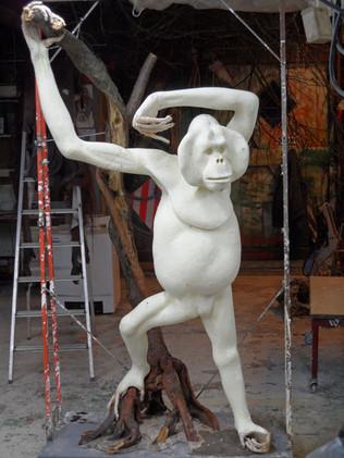 orang oetan kunststof afgietsel