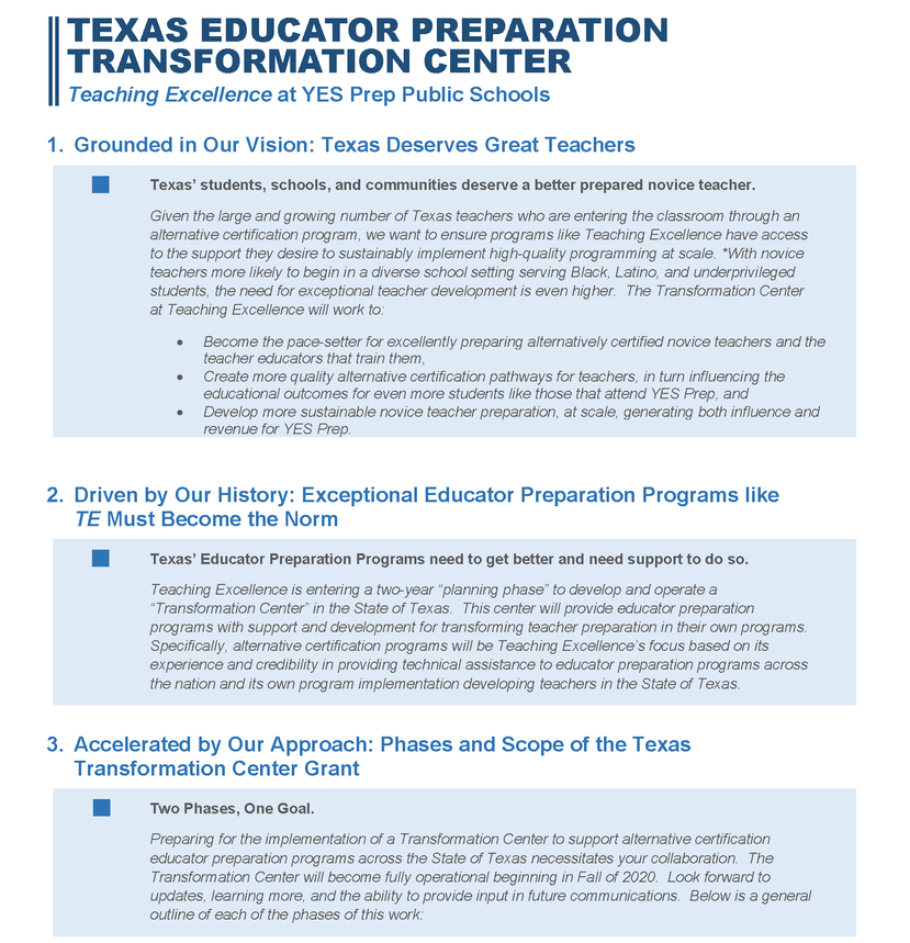 Transformation Grant One Pager_Teaching