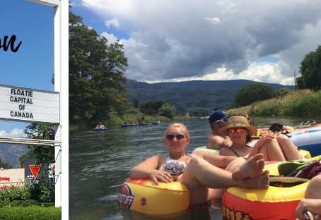 "Penticton: the ""Floatie Capital of Canada"""
