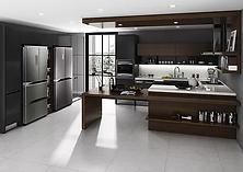 문을 열면 책상과 월패널이 있어 Home Bar로 활용 가능하고, 하부는 별도 보조 작업대로 사용하실 수 있습니다.