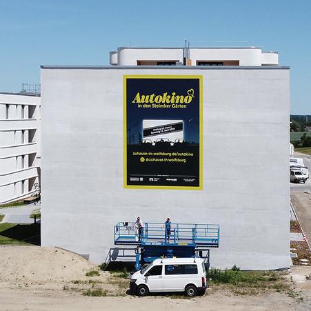 Autokino-Gebäudebanner