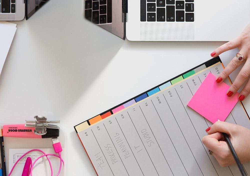 Planungsprozess mit Handnotizen | CMdesign