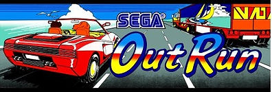 Sega Out Run arcade game payer 1 birthday party at player 1