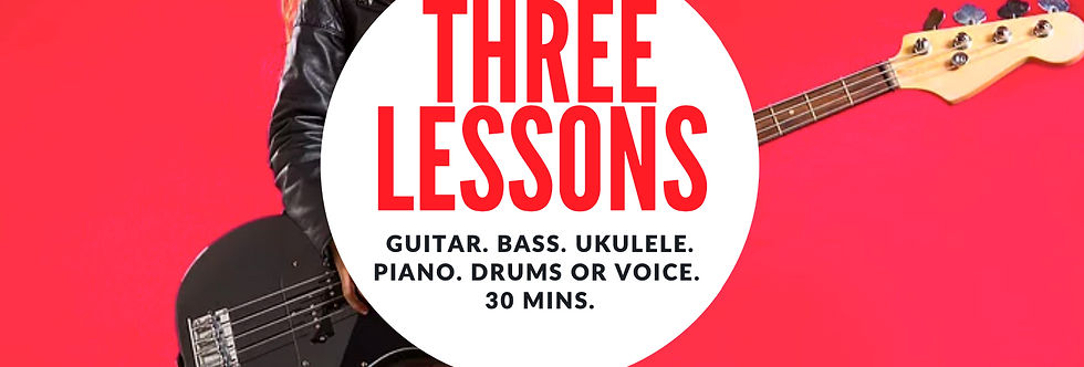 Gift Voucher for Three Music Lessons