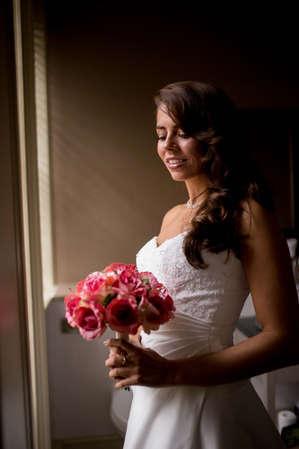 Beautiful natural photo of Bride during bridal prep