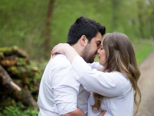 Engagement Shoot at Sidney woods, Dunsfold, Surrey- Karys + Tom