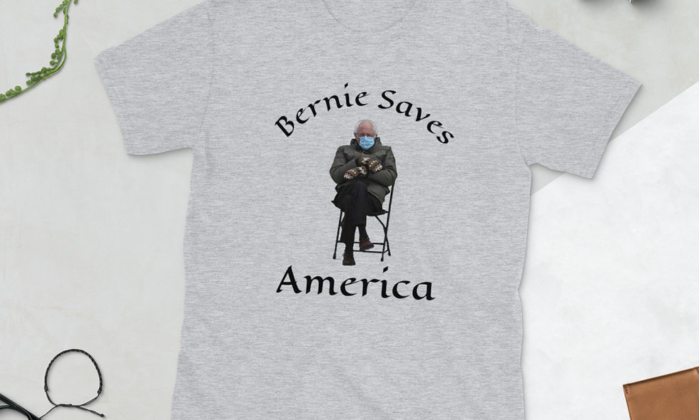 Bernie Sanders Saves America Short-Sleeve Unisex T-Shirt