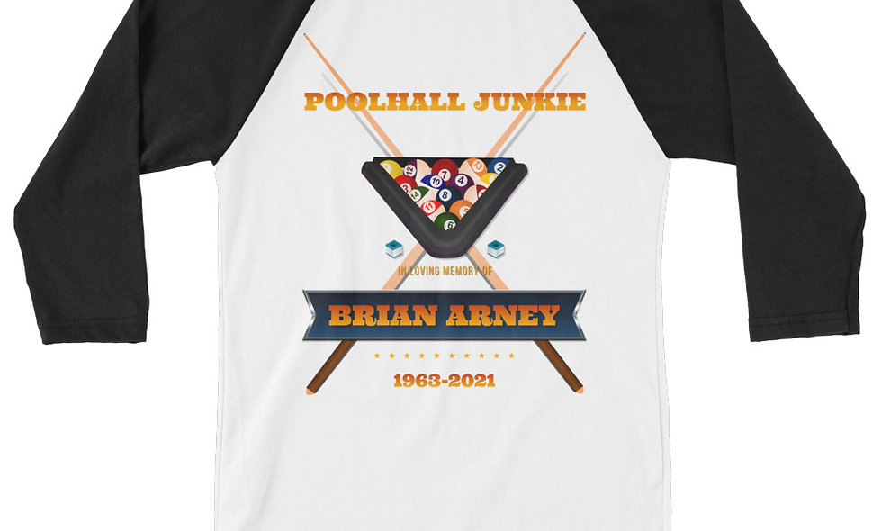 Brian Arney Poolhall Junkie 3/4 sleeve raglan shirt