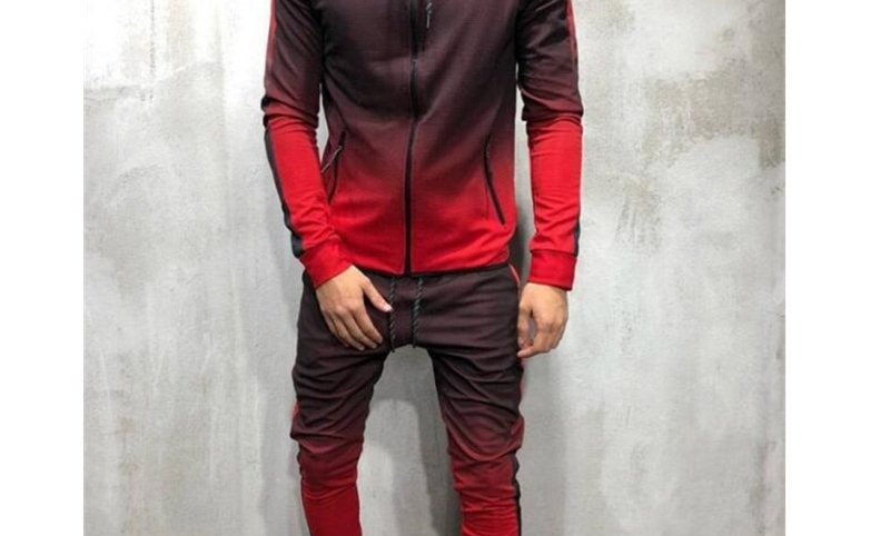 Zipper Tracksuit Men Set Sporting 2 Pieces Sweatsuit Men
