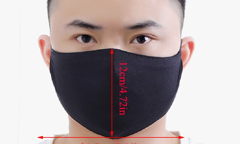 1PC Black Cotton Cloth Driving Mask Outdoor Sport