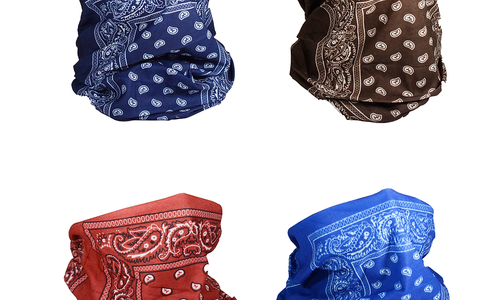 Bandana Face UV Protection for Men and Women Assorted Colors