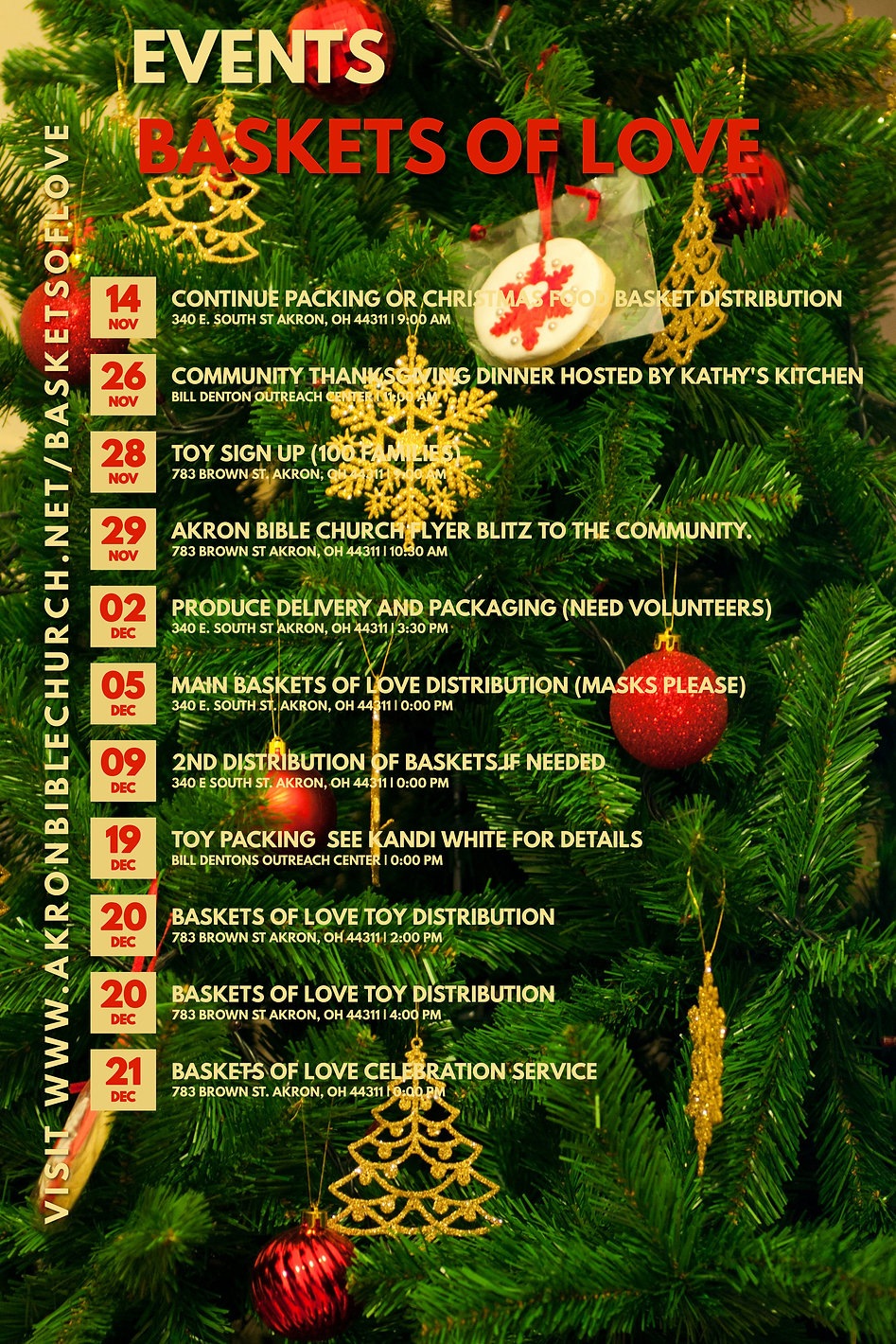 Copy of Christmas Event Schedule Templat