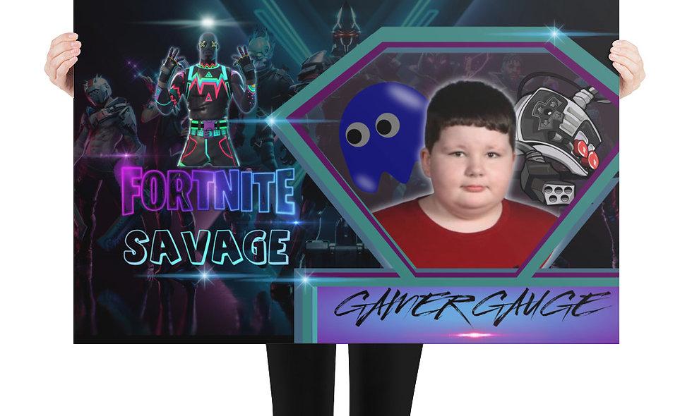 Gamer Gauge Fortnite Photo paper poster
