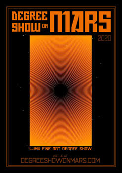 LJMU Degree Show On Mars Poster