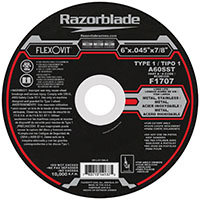 "FlexOvit F1707 Type 1 Cutoff Wheel 6"" x 0.045"" x 7/8"""