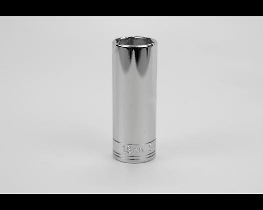 S-K 8418 18mm 3/8inDr 6 Pt Metric Extra Dp Chrome Socket