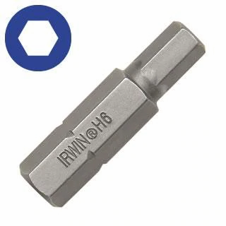 "Irwin 92509  3mm Hex Head Insert Bit - Metric  1-1/4"" Length"