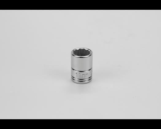 S-K 43710 11mm 1/4in Dr 12 Pt Metric Std Chrome Socket