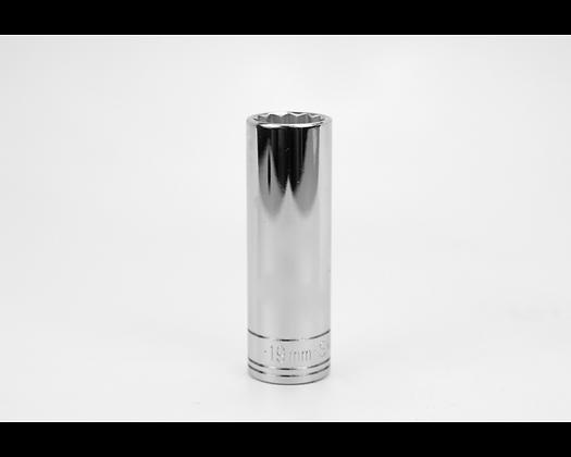 S-K 48019 19mm 1/2in Dr 12 Point Metric Dp Chrome Socket