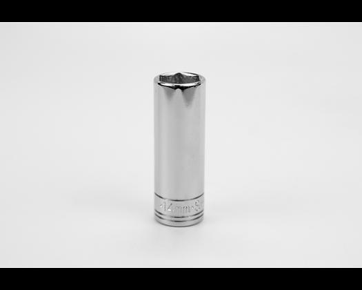 S-K 8464 14mm 3/8inDr 6 Pt Metric Extra Dp Chrome Socket