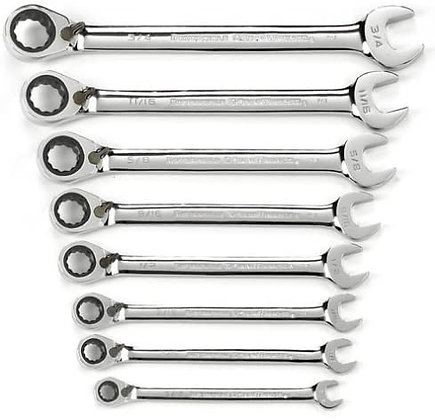 GearWrench 9533N 8 Pc. 12 Pt Reversible Ratcheting Comb. SAE Set