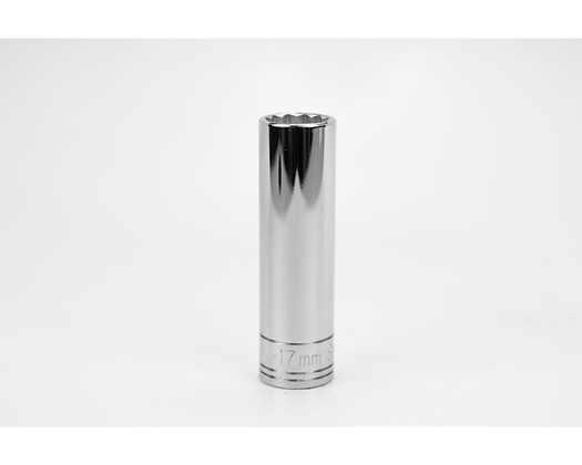 S-K 48017 17mm 1/2in Dr 12 Point Metric Dp Chrome Socket