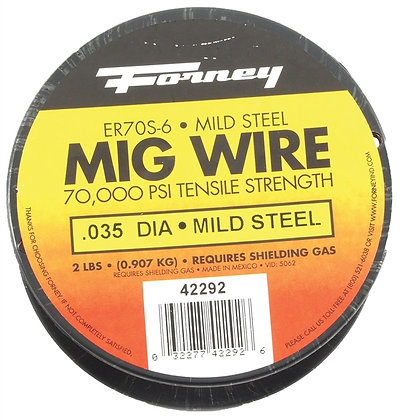 "Forney 42292 ER70S-6, .035"" x 2 lbs., Steel MIG"