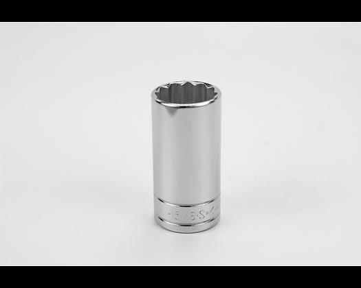 S-K 42430 15/16in 3/8in Dr 12 Pt Fract Dp Chrome Socket