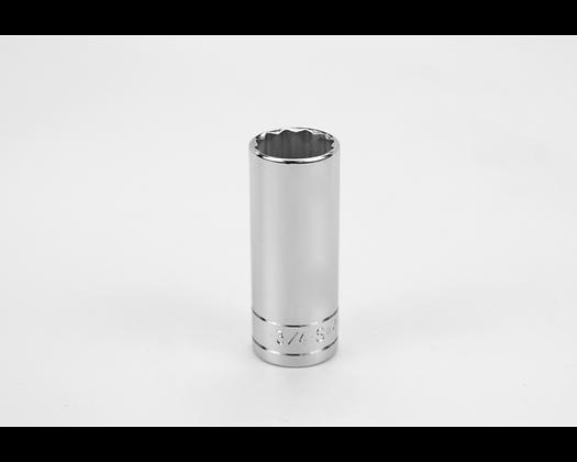 S-K 42424 3/4in 3/8in Dr 12 Pt Fract Dp Chrome Socket