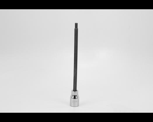 S-K 45955 5mm 3/8in Dr Long Hex Chrome Bit Socket