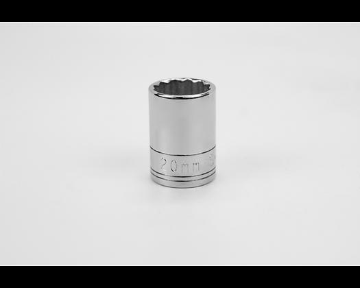S-K 40320 20mm 1/2in Dr 12 Pt Metric Std Chrome Socket