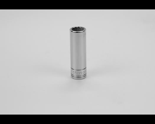 S-K 44710 11mm 1/4in Dr 12 Point Metric Dp Chrome Socket