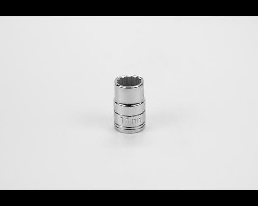 S-K 2311 11mm 3/8in Drive 12 Pt Metric Std Chrome Socket