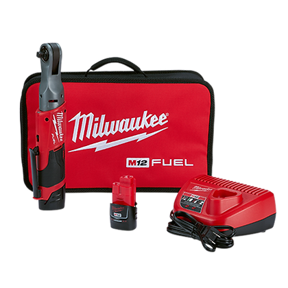 Milwaukee 2557-22 M12 FUEL 3/8in. Ratchet 2 Battery Kit