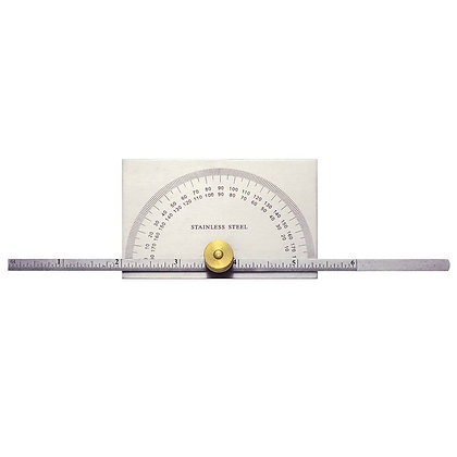 General 19 Angle-izer Square Head Steel Protractor and Depth Gauge