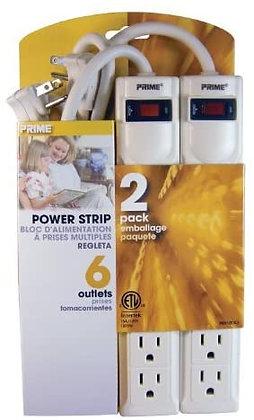 Prime PB8100X2 2PK 6-Outlet Power Strips